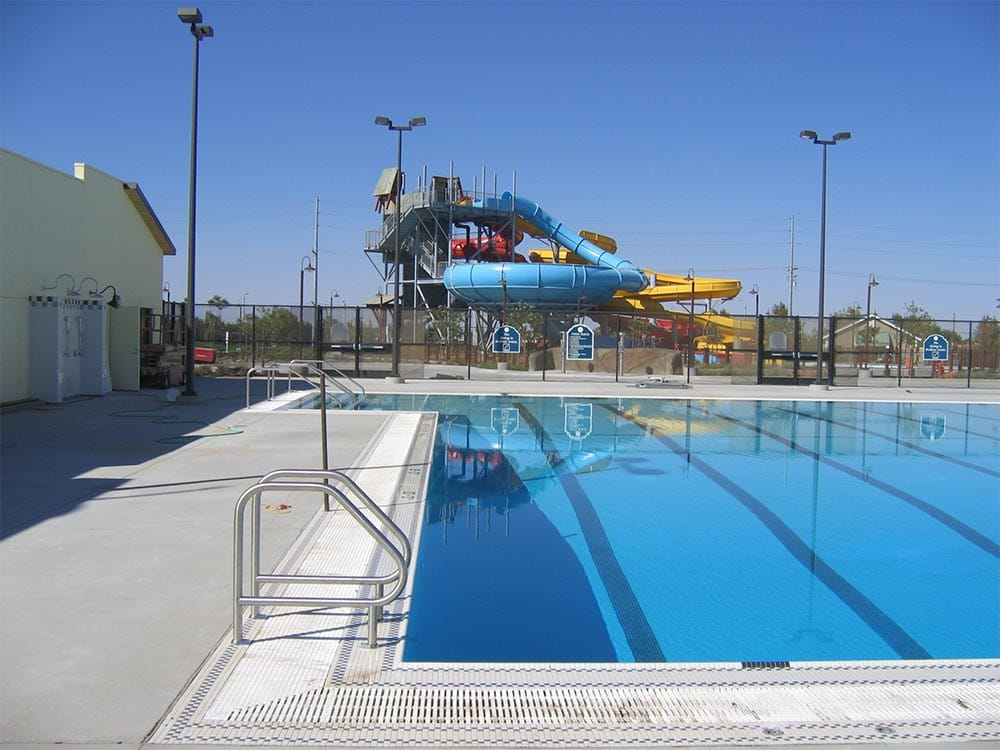 Pool and Waterslides